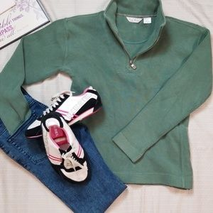 TOMMY BAHAMA mint green half zip hoodie size small